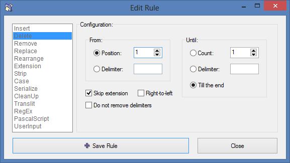 Editing Rule