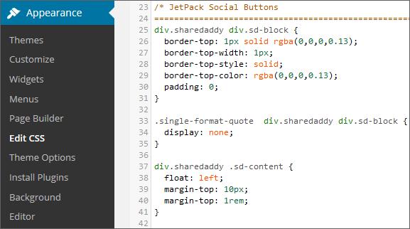 JetPack CSS Editor