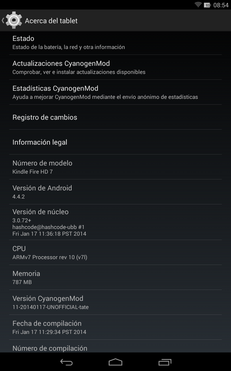 CyanogenMod Kindle Fire HD