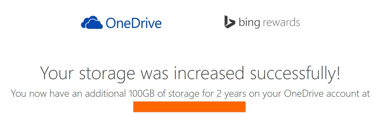 OneDrive 100GB Offer