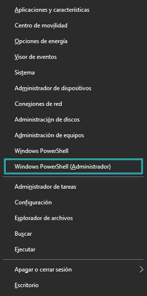 Windows 10 Win-X Menu